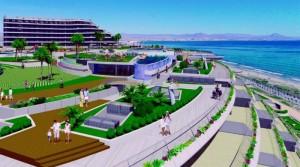 Terasové apartmány ve sportovním centru na Costa Blanca. 1. linie u moře