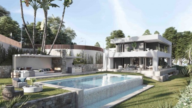 Estepona: Luxusní vila s bazénem v pěší dostupnosti pláže
